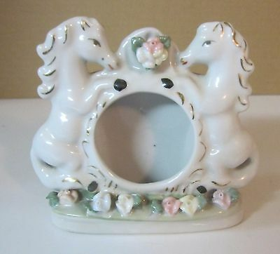 Ceramic Rearing Horses Photo Frame