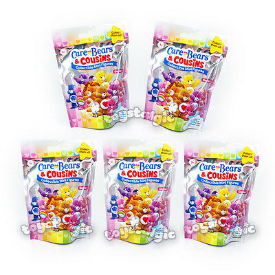 NEW Care Bears & Cousins Collectible Mini Figures Blind Bag 5 Pack Series 4
