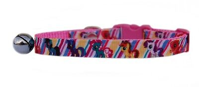 "PINK MY LITTLE PONY      ""  safety kitten cat collar  3 sizes"