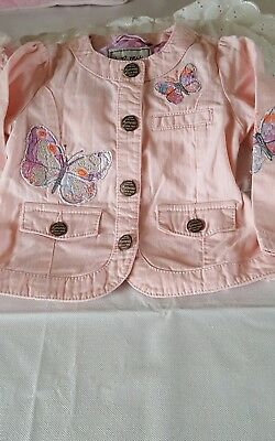 next baby girl jacket 12-18with pockets  colour pink