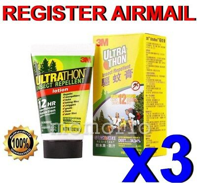 3M Ultrathon Mosquito Bug tick Repellent lotion water splashes sweat Resists x 3