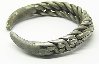 VIKING SILVER TWIST RING c. 10th-11th cent. AD RARE EXPANDABLE TYPE