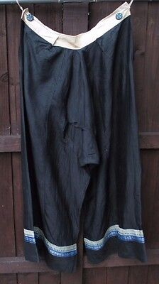 Large antique or vintage Chinese silk trousers