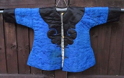 Superb oldChinese  Childs silk coat poss Qing