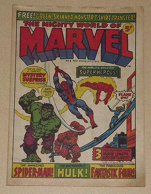 The Mighty World of Marvel #1 Vintage Marvel Comic 1972