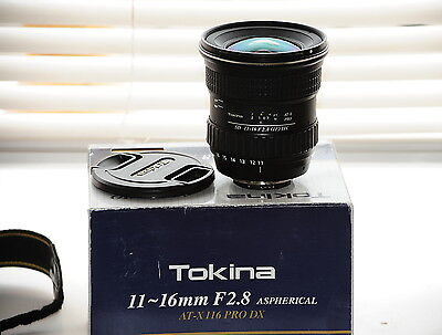Tokina AT X 116 PRO DX 11-16mm F/2.8 Lens Nikon