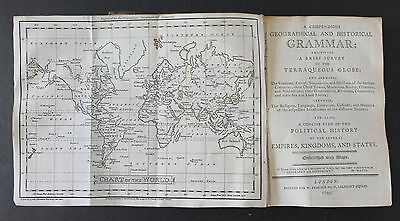 A Compendious Geographical and Historical Grammar. Engraved maps. 1795.