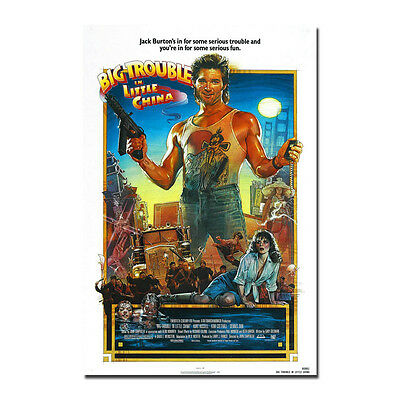 Big Trouble in Little China Classic Movie Silk Art Silk Poster 12x18 24x36inch