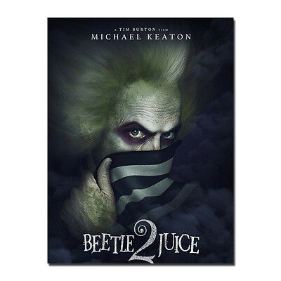 Beetlejuice 12x17 24x34inch 1988 Classic Movie Silk Poster Wall Decoration