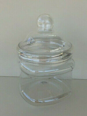 1-40 Multi Listing 1000ml Clear Plastic Victorian Style Jars with Domed Caps
