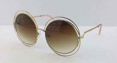 AUTHENTIC NEW  CHLOE SUNGLASSES CARLINA CE114S Peach/Brown Lens
