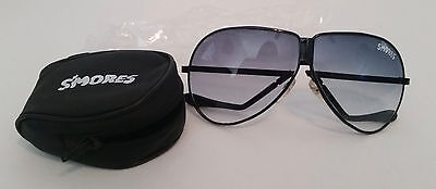 S'mores Crunch Smored Folding Sunglasses with Case Never Used