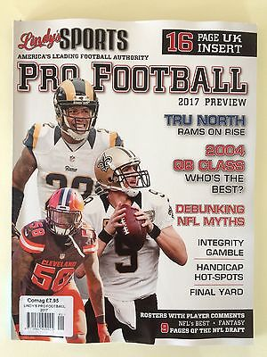Lindys Sports Pro Football Magazine 2017 Preview - NFL, 16 Page UK Insert + More