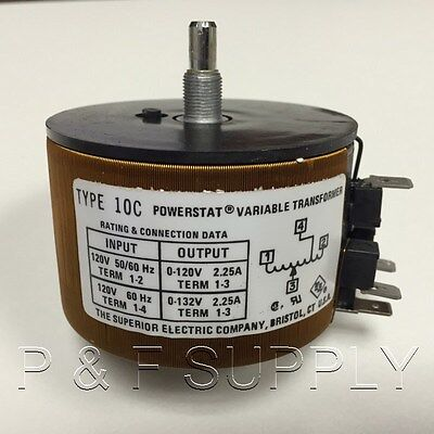 10C Superior Electric Powerstat Variable Transformer