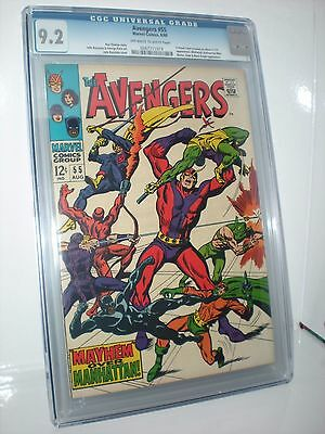 Avengers #55 Vol 1 1968 (First appearance of Ultron - V) CGC 9.2