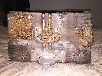 Antique Adams Industrial Sand Casting Mold Wooden Box  from Dubuque Iowa
