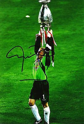 Peter Schmeichel Signed 12X8 Photo Manchester United GENUINE AFTAL COA (9115)