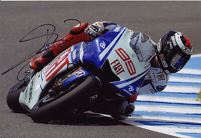 Jorge Lorenzo MotoGP autograph, In-Person signed 8X12 inches Yamaha photo