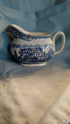 Wood & Sons Woodland Pattern Creamer in Blue
