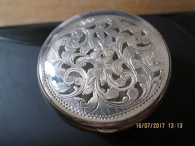 Solid silver decrorative trinket / pill box