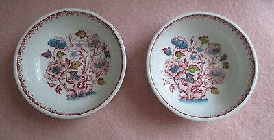 "Pair ~ Vintage ~ ""Dorset"" ~ Wood & Sons Burslem ~ Made in England ~ Open Salt"