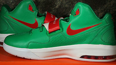 Nike Air Max Sweep Thru PE High Top Basketball Shoes Green Red Mens 10 / 44