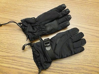 HEAD Black Warm WINTER GLOVES Ski Snow Board Size YOUTH MEDIUM Kid Boy Girl