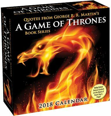 Game Of Thrones - Book Quotes - 2018 Daily Desk Calendar - Brand New - 485191