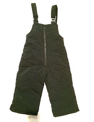 Windy Trail Label Snow Overalls Bibs Winter Warm Pants Toddler Boy Girl 2T Black