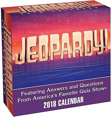 Jeopardy - 2018 Daily Desk Calendar - Brand New - Trivia 482497