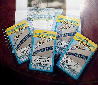 NEW PRICE REDUCED Lot of (4) Sig Hansen Signed 2010 Catchcon Seattle Passes