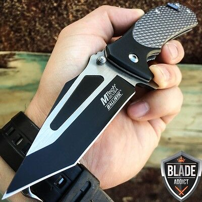 "8"" Mtech Grey Tactical Spring Assisted Open Rescue Folding Pocket Knife -U"