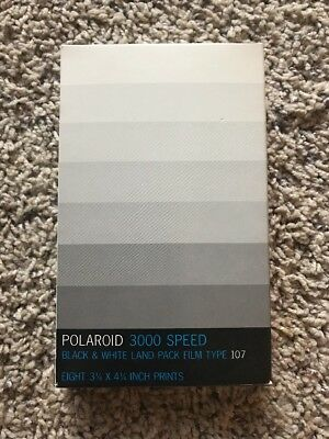 Polaroid 3000 Speed Black & White Land Pack Film Type 107 NEW SEALED