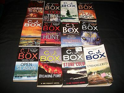 Lot of 17 Books by C.J. Box, Joe Pickett Mysteries