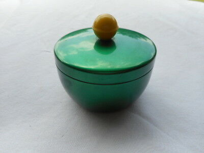 Vintage Turner Specialty Mfg.Green Aluminum Container With Yellow Handle Rare!
