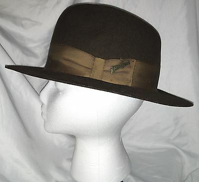 Vtg 1984 Lucasfilm Indiana Jones Authentic Hat Brown Stetson Small Fedora