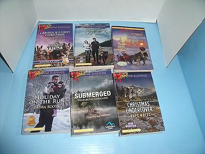 Lot Of 6 True Large Print Love Inspired Romance & Suspense*submerged*capitol K-9