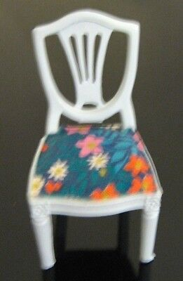 Lundby Dollhouse Vintage Dining-Room Extra Chair —Rare Blue Edition