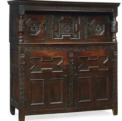 17th Century Charles II Oak Press/Court Cupboard