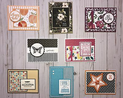 8 Handmade General/All Occasion/Hello greeting cards/env Stampin' Up! + more