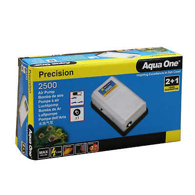 Precision 2500 Aquarium Air Pump 10069 Fish Tank Aqua One