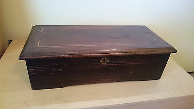Antique Swiss Cylinder Inlaid Wood  Music Box - Great Condition