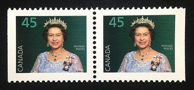 Canada #1360as PP MNH, Queen Elizabeth II Definitive Booklet Pair of Stamps 1995