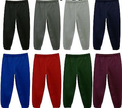 Boys Girls Joggers School PE Fleece Jogging Tracksuit Bottoms Childrens Free P&P