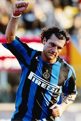 Christian Vieri Signed 12X8 Photo Inter Milan & Italy ITALIA AFTAL COA (9140)