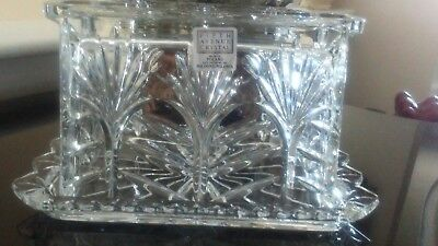 cut glass covered butter dish