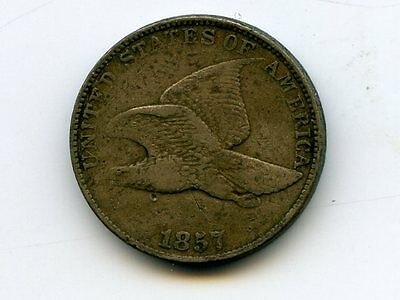 2 Coin Lot - 1857 Flying Eagle Cent & 1861 Indian Head Cent - Great Price