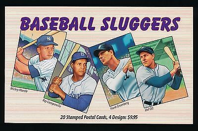 Usps Baseball Sluggers - Set Of 20 Stamped Post Cards- Mint Condition