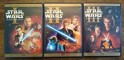 Star Wars Prequel Trilogy Episode 1-3, 6-DVD Complete Widescreen Set 1 2 3 USA