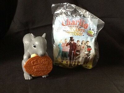 Wendy's CHARLIE AND THE CHOCOLATE FACTORY Kid's Meal Toy - Squirrel - NEW
